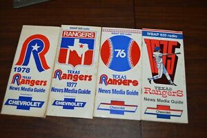 Lof of 4 1970's Texas Rangers Baseba;; News Media Guide Chevrolet WBAP 820 radio