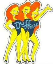 Simpsons Duff Beer Girls Tin Sign Sexy