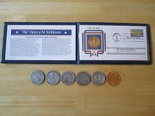 Victory at Yorktown First Day Cover and Medal, Plus 6 other medals, Washington,