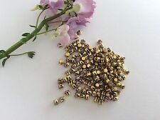Swarovski Vintage Rhinestones 3.2mm Round Brass set Pack 30 Light Amethyst