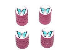 Butterfly - Tire Rim Valve Stem Caps - Pink