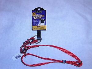 """Petmate Red Mighty Link Comfort Check Collar Adjustable 5/8"""" x 9-18"""" Dog New"""