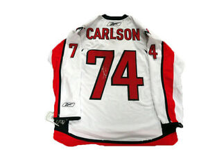 JOHN CARLSON SIGNED REEBOK WASHINGTON CAPITALS 2018 STANLEY CUP JERSEY LICENSED