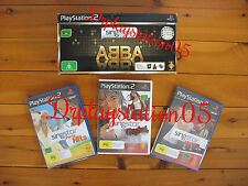 Singstar ABBA Playstation 2 Brand New Bundle with Games ( Genuine AUS )