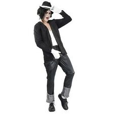 Men's Deluxe 80's Super Star Michael Jackson Style 4 Pce Fancy Dress Costume New