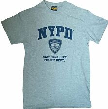 NYPD Official Men's Tee Heather Gray New York City Police T-Shirt Licensed NWT