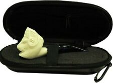 Imported Miniature Meerschaum Pipe - RAM w/ Case, Wind Cap & Pipe Cleaners