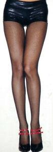 Women Pantyhose Fishnet Nylon One Size Reg Black or Neon Pink Music Legs 9001