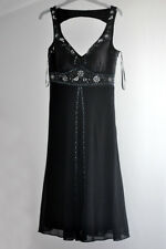 Stunning Black Dress with Sequins Size 8 10 Evening out, Weddings, Occasions