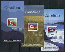 Weeda Canada BK110b, BK114a, BK127a VF MNH complete Quick Sticks booklets CV $68