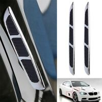 2x 3D Car Chrome Grille Shark Gill Simulation Air Flow Vent Fender Sticker 1q