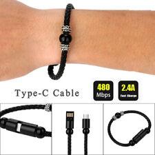 NUEVO Weave Creative 8 PIN Tipo-C Cable datos Brazalete De Cuentas CARGADOR PARA