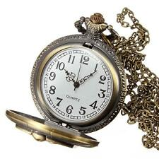Hot The NIGHTMARE BEFORE CHRISTMAS Quartz Pocket Watch Chain Jack Skellington TL