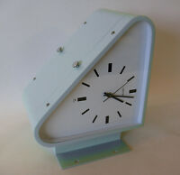 Vintage Teal Dual Face Nautical Maritime Slave Quartz Wall Clock Seiko Japan