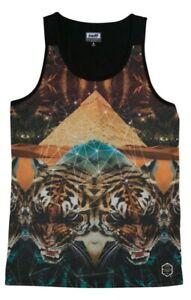 New Neff Mens Battlekat Tank Sleeveless Shirt Medium Multi