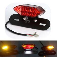 Motorcycle LED License Brake Tail Light Turn Signals For Bobber Cafe Racer ATV