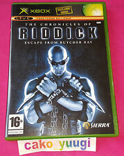 THE CHRONICLES OF RIDDICK ESCAPE FROM BUTCHER BAY XBOX EXCELLENT ETAT 100% FR