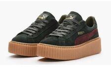 Puma Rihanna Creepers Green & Claret Fenty Trainers Size 4 Platform Sneakers