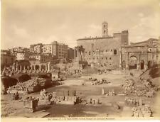 Alinari. Italie, Roma, Il Foro Romano  Vintage albumen print  Tirage albuminé