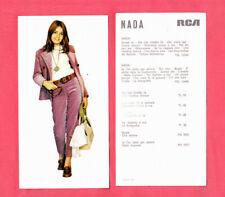 NADA MALANIMA | Rara CARTOLINA PROMOZIONALE '70 Dischi RCA | MA CHE FREDDO FA |