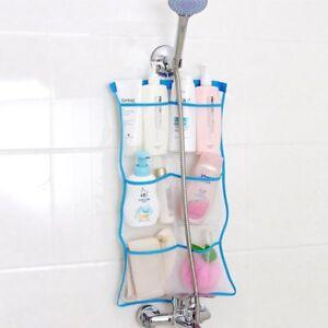 Bathroom Bathtub Shower Mesh Net Storage Bag Organizer Holder Hanging Bag Toy