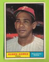 1961 Topps Baseball - Ruben Gomez (#377)  Philadelphia Phillies  DP
