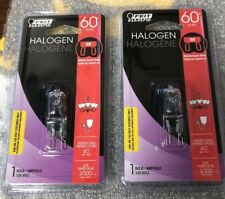 LOT OF  2 Feit Electric, 60W 120V Halogen G9 Bulb - Brand New SEALED PACKAGE