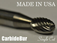 "New listing Brand New Usa Carbide Burr Se-1 Single Cut 1/4"" Oval Shape Deburring Tool Bit"