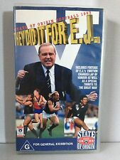 STATE OF ORIGIN FOOTBALL 1995 ~THEY DID IT FOR E.J. WHITTEN ~ RARE AFL VHS VIDEO
