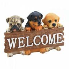 Adorable Puppy Entrance Welcome Statue Canine Garden Dog Sculpture