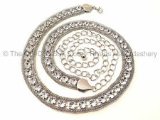 Metal/Chain Belts for Women with Diamante