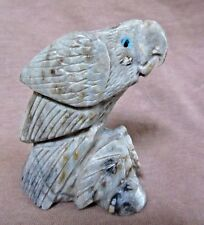 Native Zuni Amazing Picasso Marble Parrot by Carver Michael Coble C1523