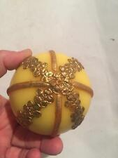 Handmade Antique Vintage Western Germany WAX Christmas Tree Yellow Ornament Rare