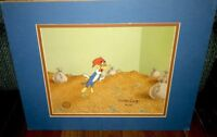 Woody Woodpecker Animation Cel Walter Lantz Signed Money Bags Rare Edition Cell