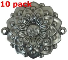 "Metal Stampings Rosette Stylized Flower Design Decor STEEL .020"" Thickness F57"