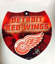 """RED WINGS Team Interstate Sign Shield Plastic 8"""" by 8"""" NEW NHL DETRIOT RED WINGS"""