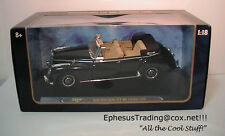 Ricko 1955 Mercedes-Benz TYP 300C 300 C  W186 Sedan Cabrio Black Tan 1/18 MINT!