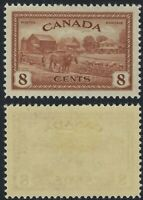 Canada Scott 268, 8c Peace Issue - Farming, VF-LH