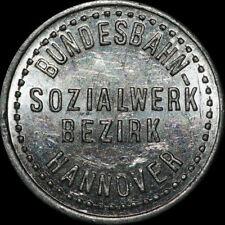 EISENBAHN-PFANDMARKE: 20 Pfennig Flaschenpfand. BUNDESBAHN-SOZIALWERK HANNOVER.