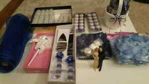 Wedding Lot Blue w/ Topper LED lights and more