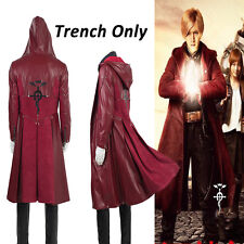 HOT Fullmetal Alchemist Edward Elric Cosplay Costume Only Trench Jacket All Size