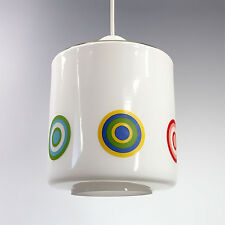 SUSPENSION LUSTRE VERRE VINTAGE MID CENTURY GLASS PENDANT LAMP DESIGN POP 60 70