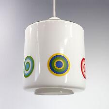 SUSPENSION LUSTRE VERRE VINTAGE MID CENTURY GLASS PENDANT LAMP DESIGN POP 60 70