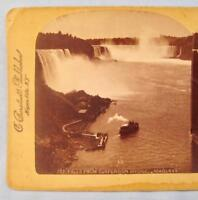 Stereoview C Bierstadt Underwood 721 Falls From Suspension Bridge Niagara (O)