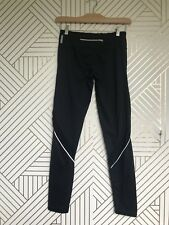 Zella With Mesh Paneled Leggings Black / White Piping Size Small