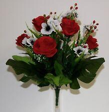 Bouquet Rose-Anémone x 13  Fleurs Artificielles intérieur/extérieur