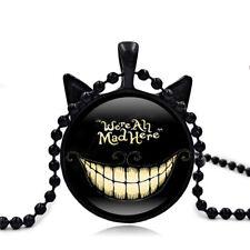 UK CHESHIRE CAT SMILE PENDANT NECKLACE Alice in Wonderland Jewellery Gift Idea