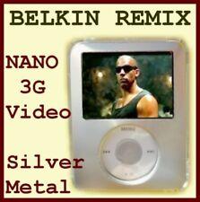 $25 BELKIN Alum & Acrylic Case~3rd Gen Apple IPOD Nano ~covers ALL ~Matte Silver
