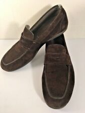 Salvatore Ferragamo  Casual Suede Penny Loafers Driving Shoes Rich Brown 8 1/2 D