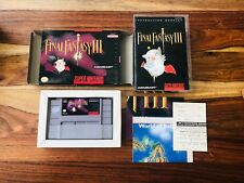 Final Fantasy III Super Nintendo SNES 1994 CIB Complete Box Manual Poster Map NM